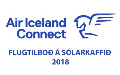 Tilboð  AIR ICELAND CONNECT á flugi vegna Sólarkaffis 2018