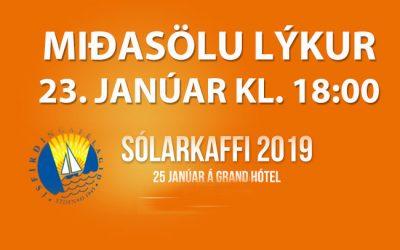 Síðustu forvöð að kaupa miða á Sólarkaffið 2019